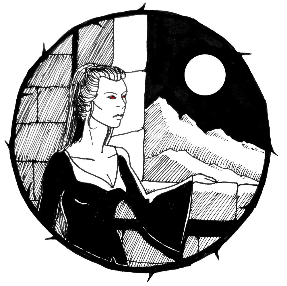 art, drawing, ink, halloween, story