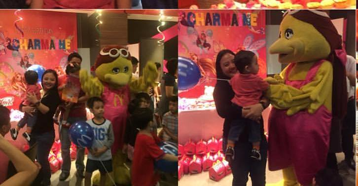 The Mascot during the birthday party of Charmaine