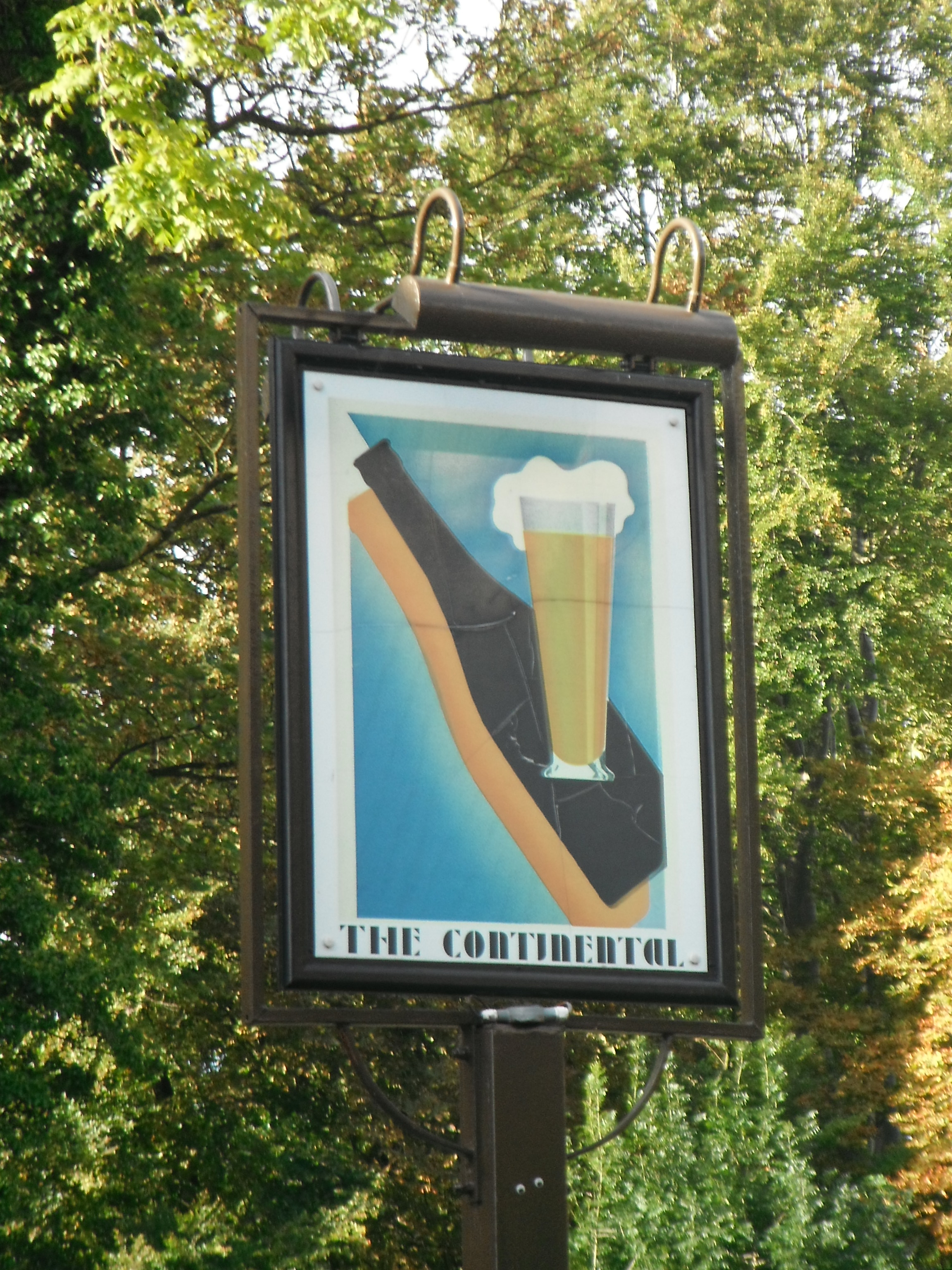 Photo taken by me – The Continental Pub sign – Preston
