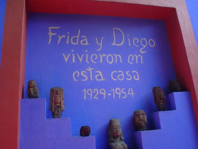 At Frida Kahlo´s house in Coyoacán