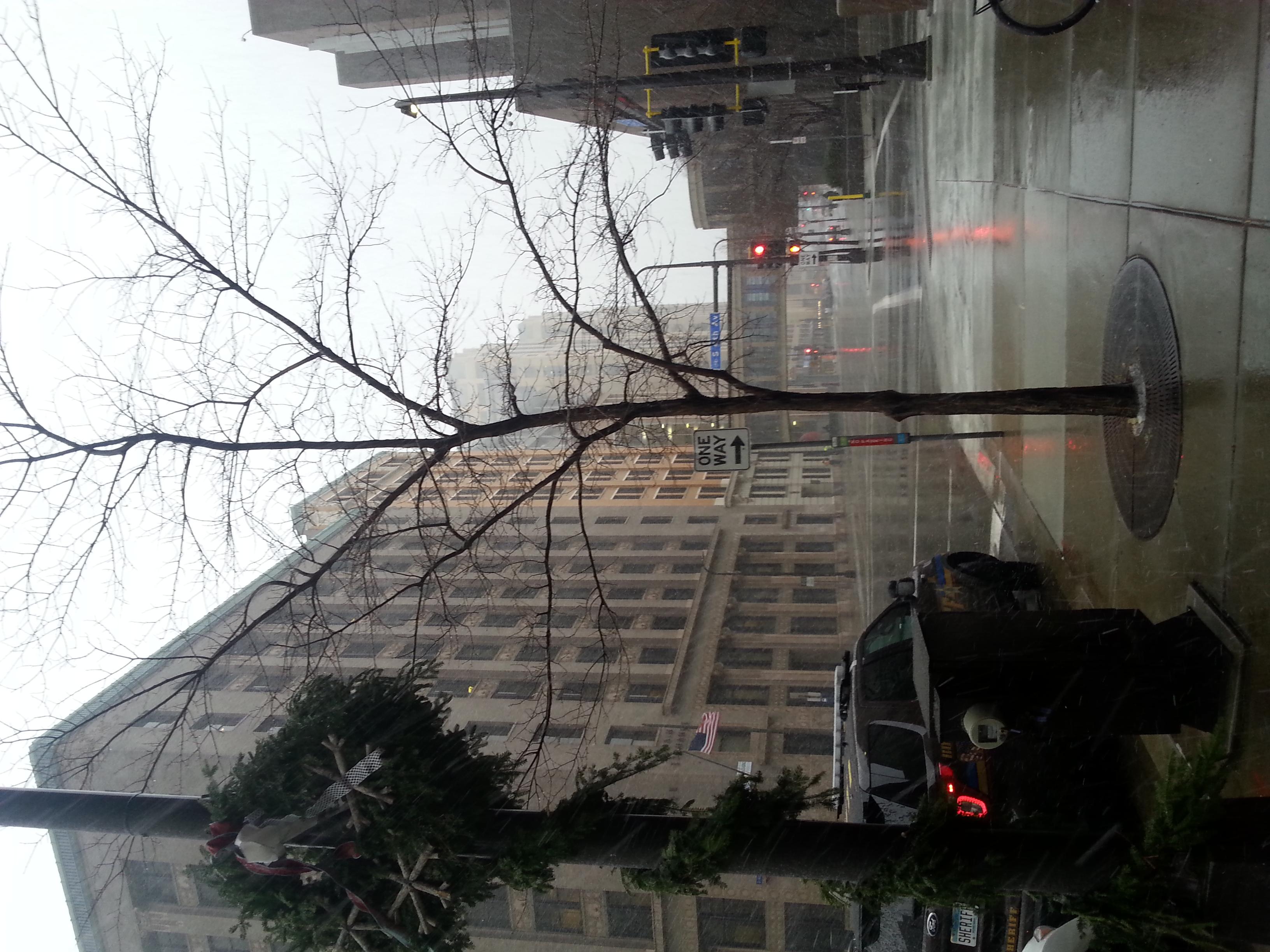 Sleeting snowy mess
