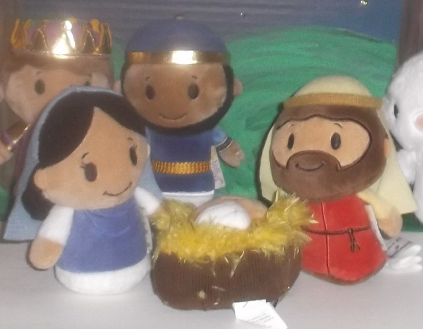 Close up of my less breakable nativity