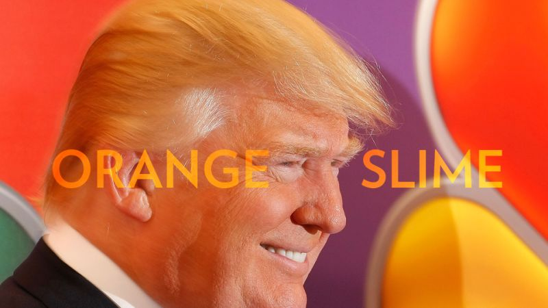 Maybe he means an orange slime landslide?