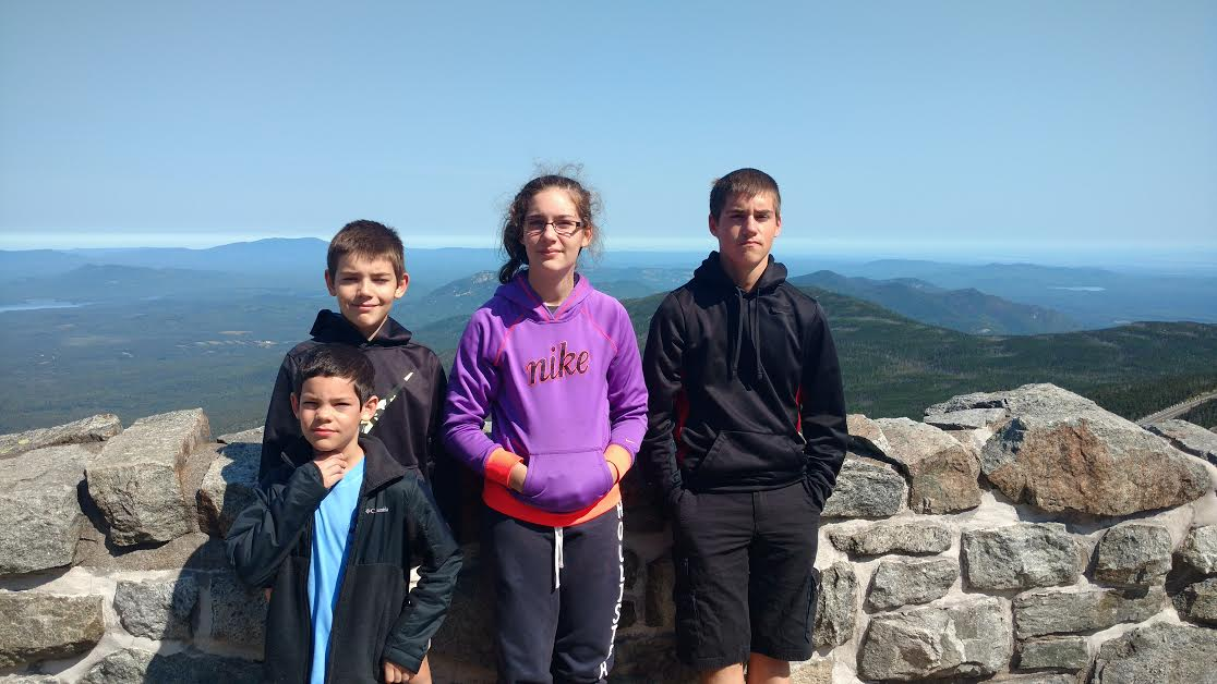 kids on Whiteface mountain, summer 2016