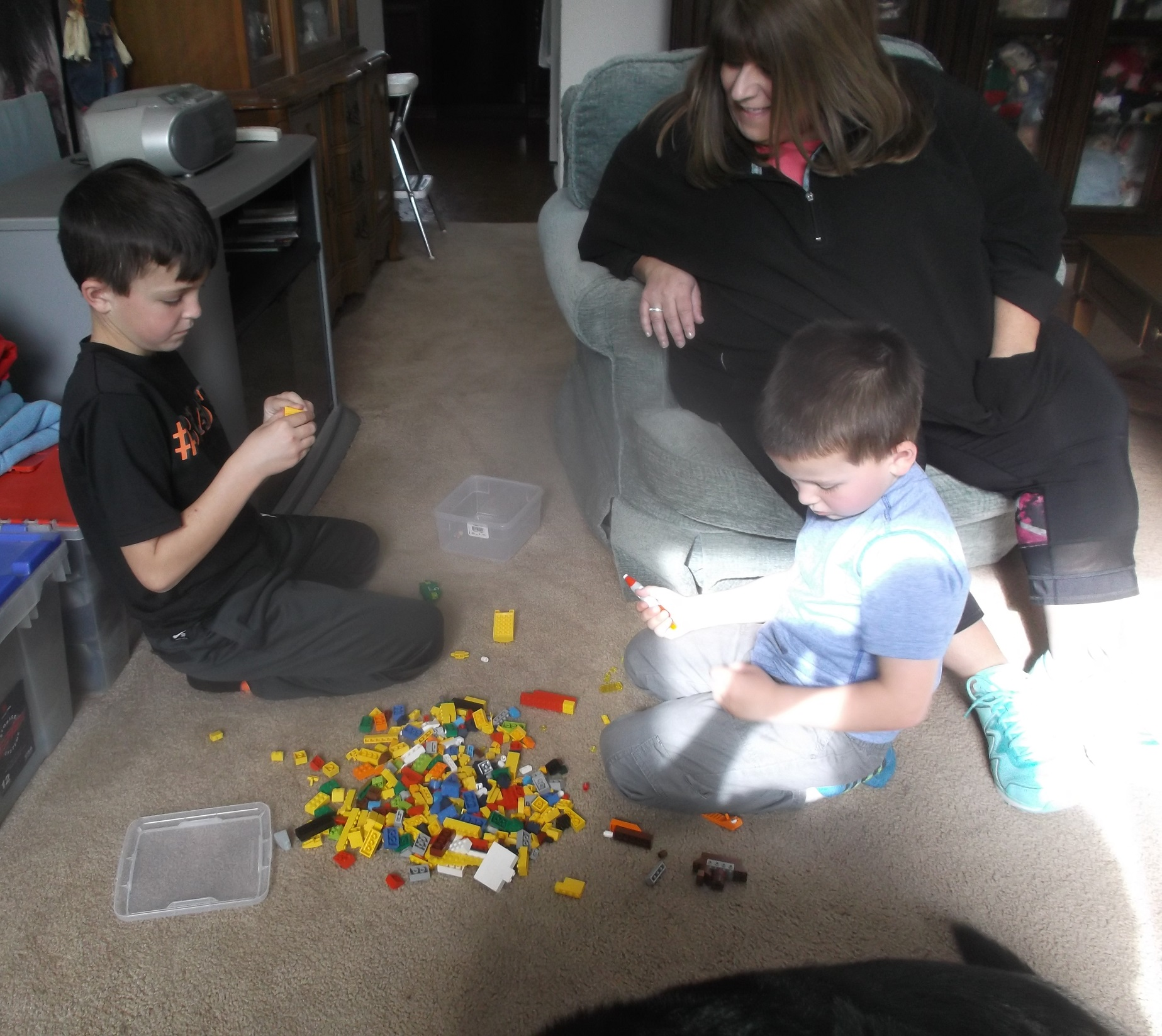 Photo I took of my nephews playing legos