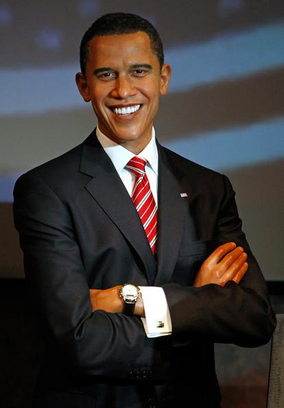 Barack obama wax figure at madame Tussauds.