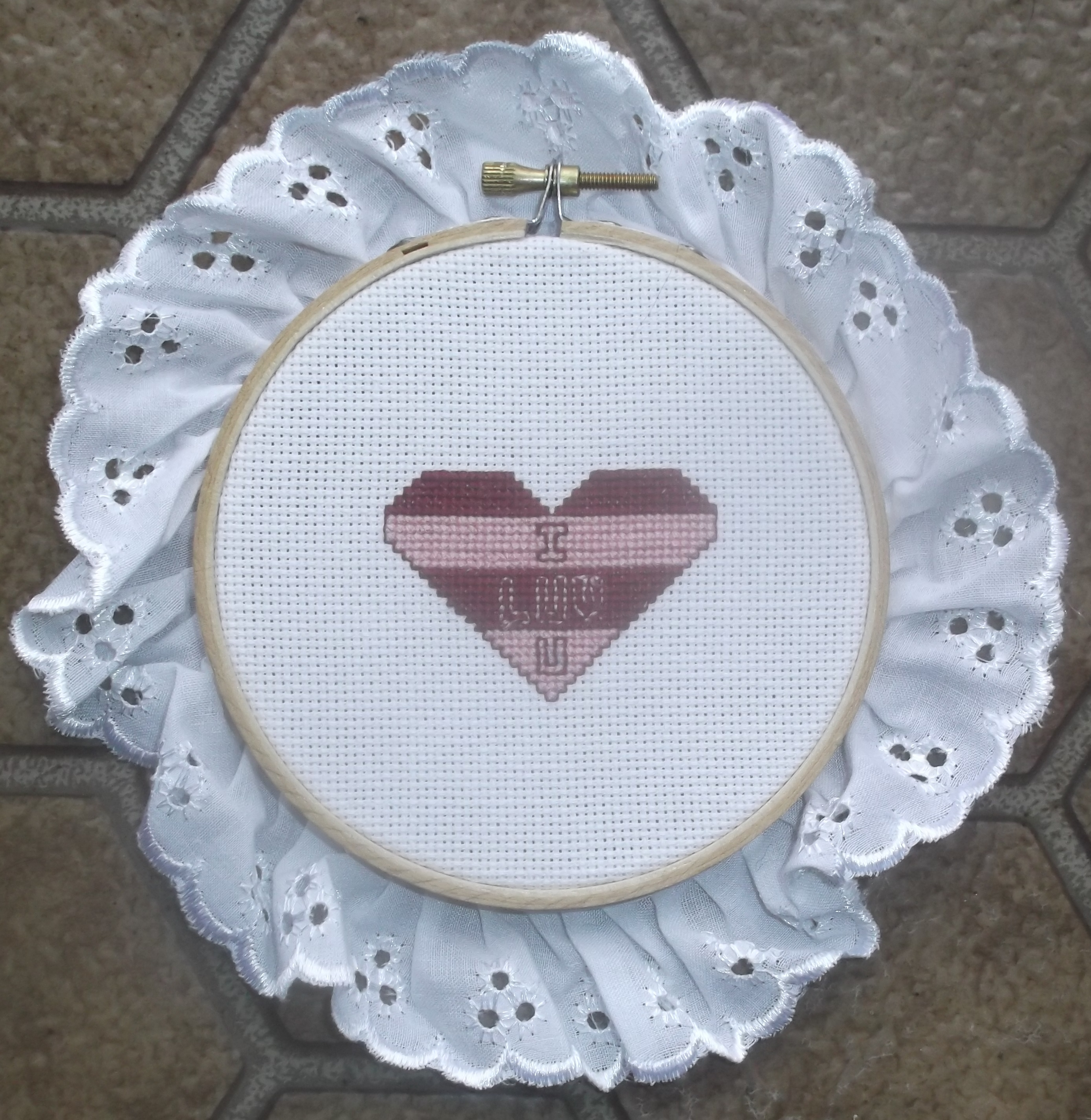 Photo I took of the latest cross stitch that I have put into my shop.