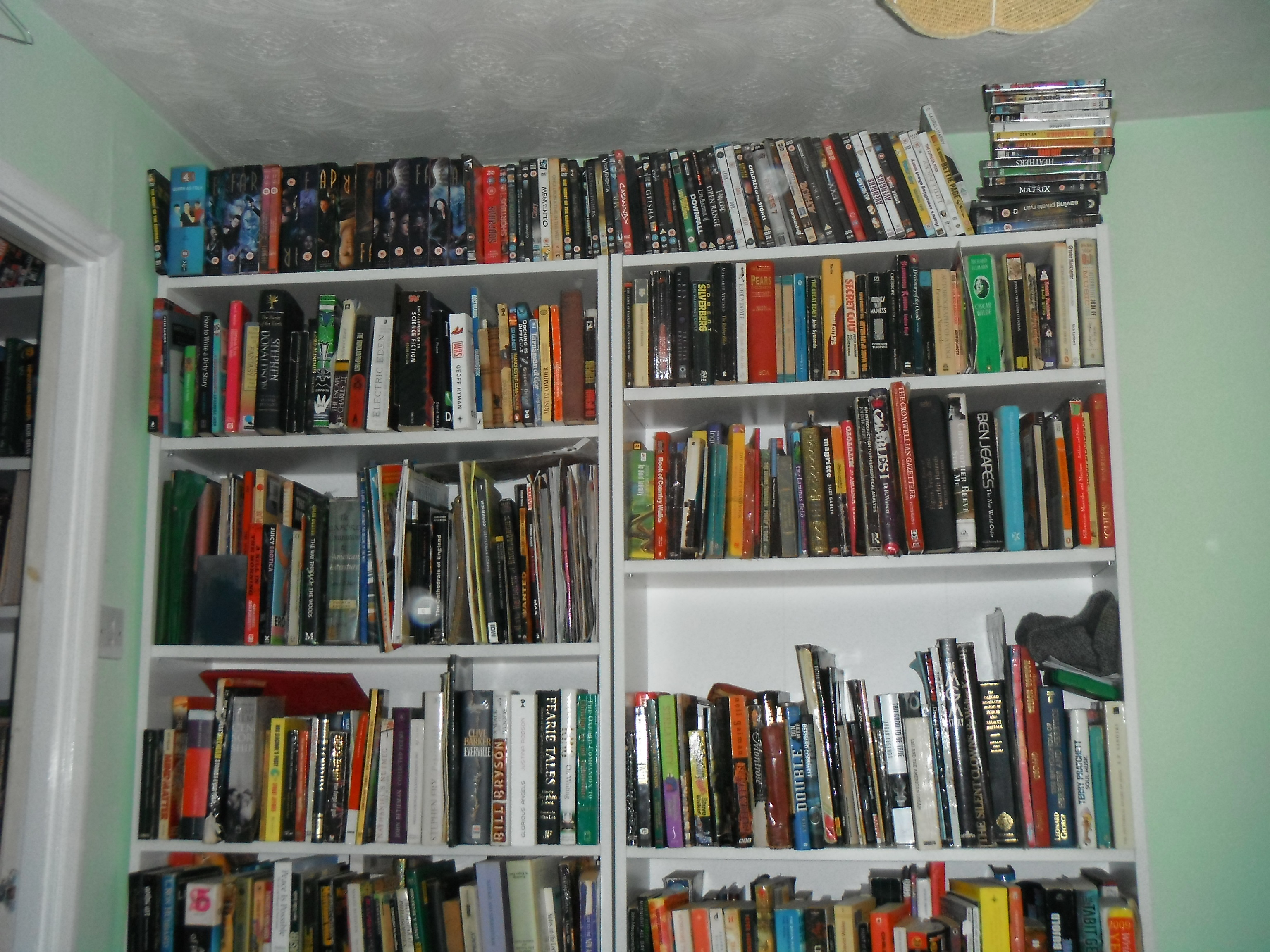 Photo taken by me – my book cases