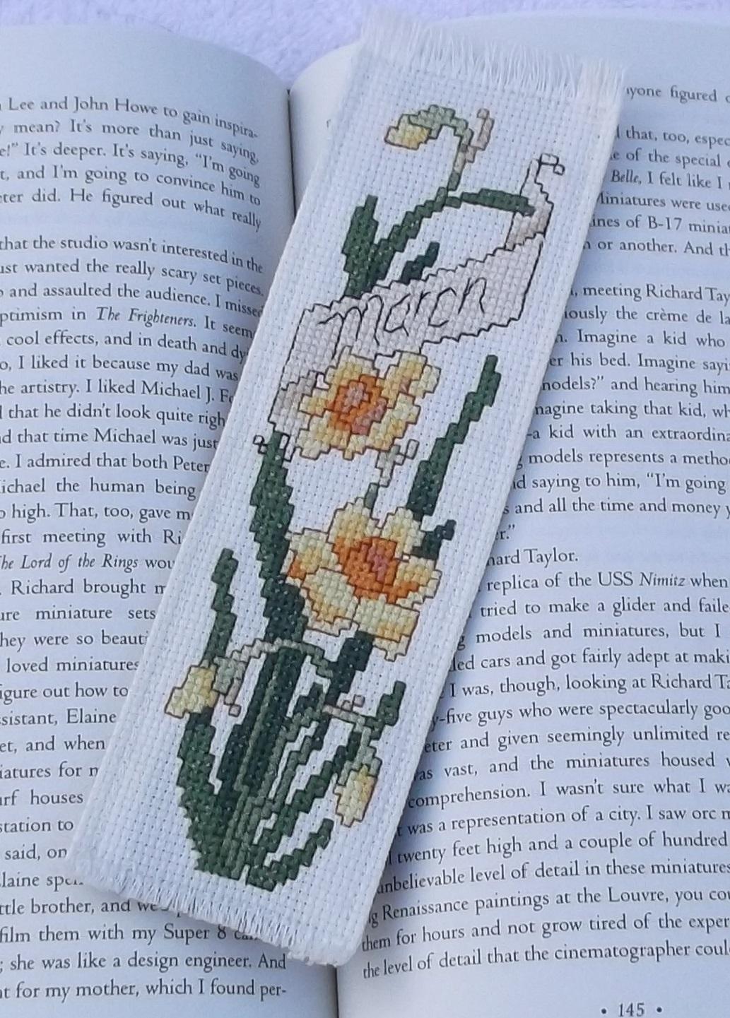 Photo I took of a daffodil bookmark