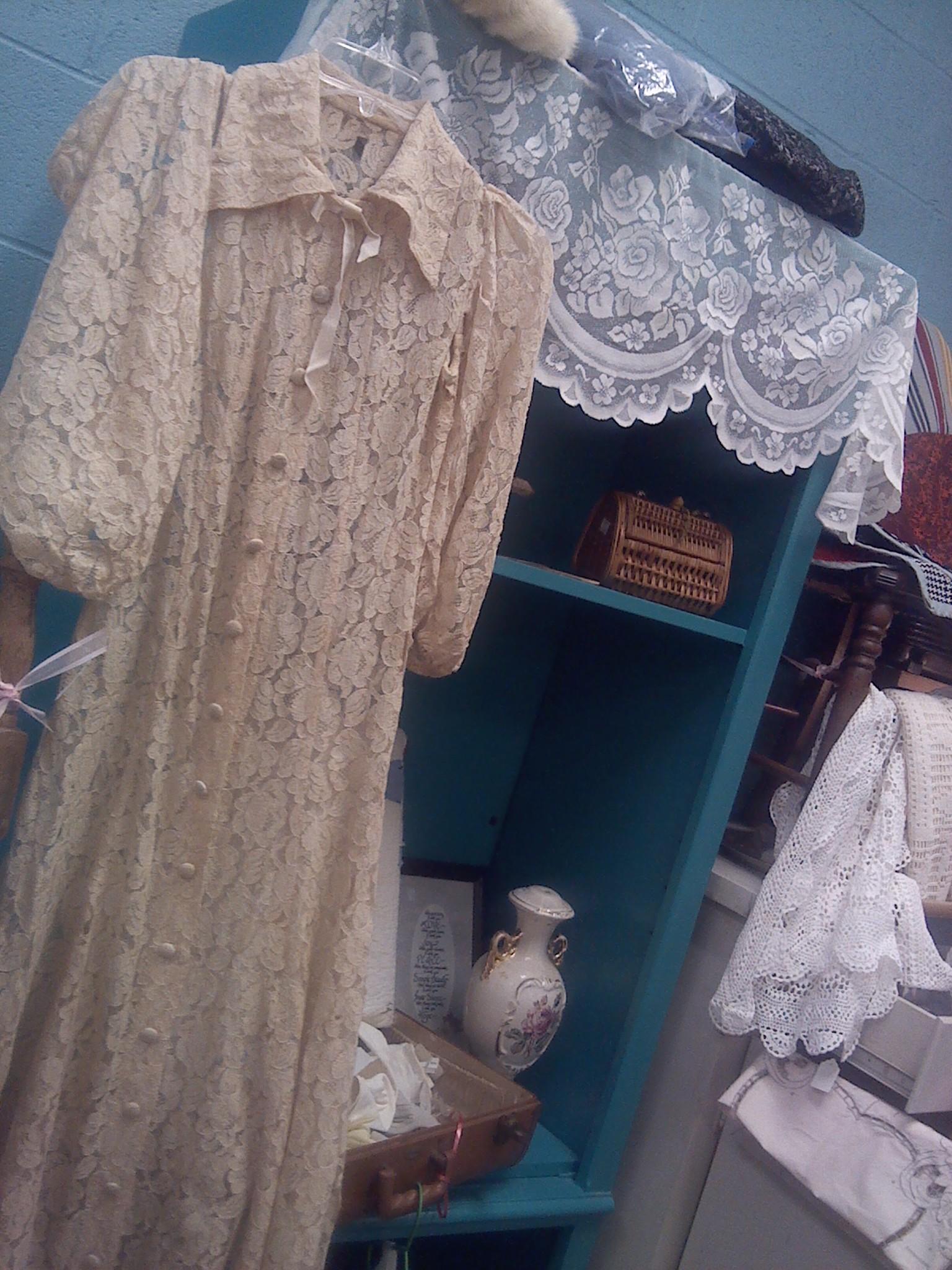 Lace dress at Hospice by Pat Z Anthony
