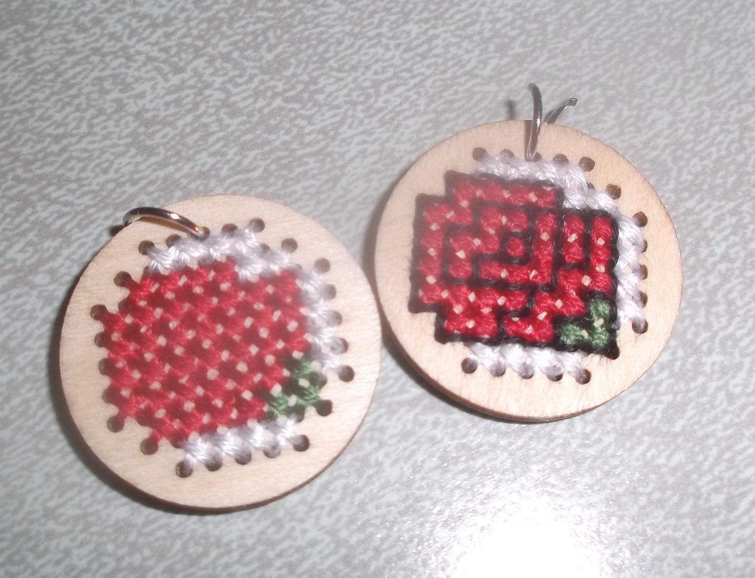 Photo I took of the Rose Earrings I'm making