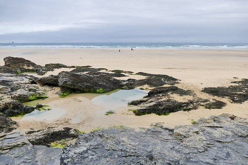Perranporth beach, from Pixabay.