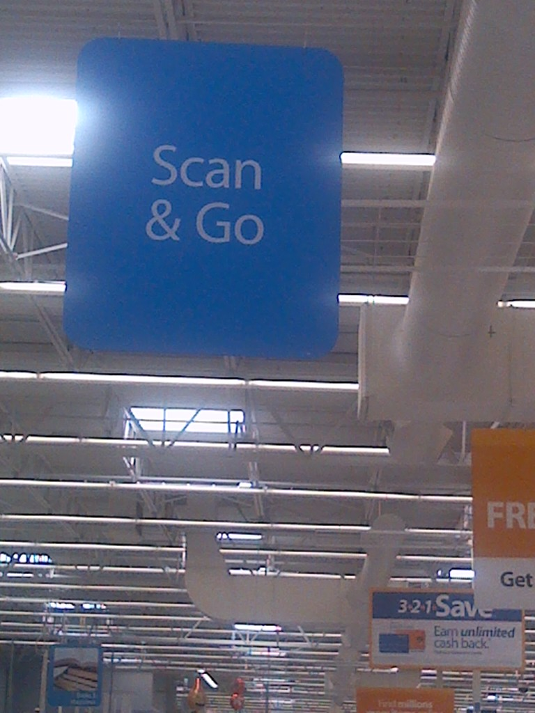 Scan & Go photo at Walmart by Pat Z Anthony