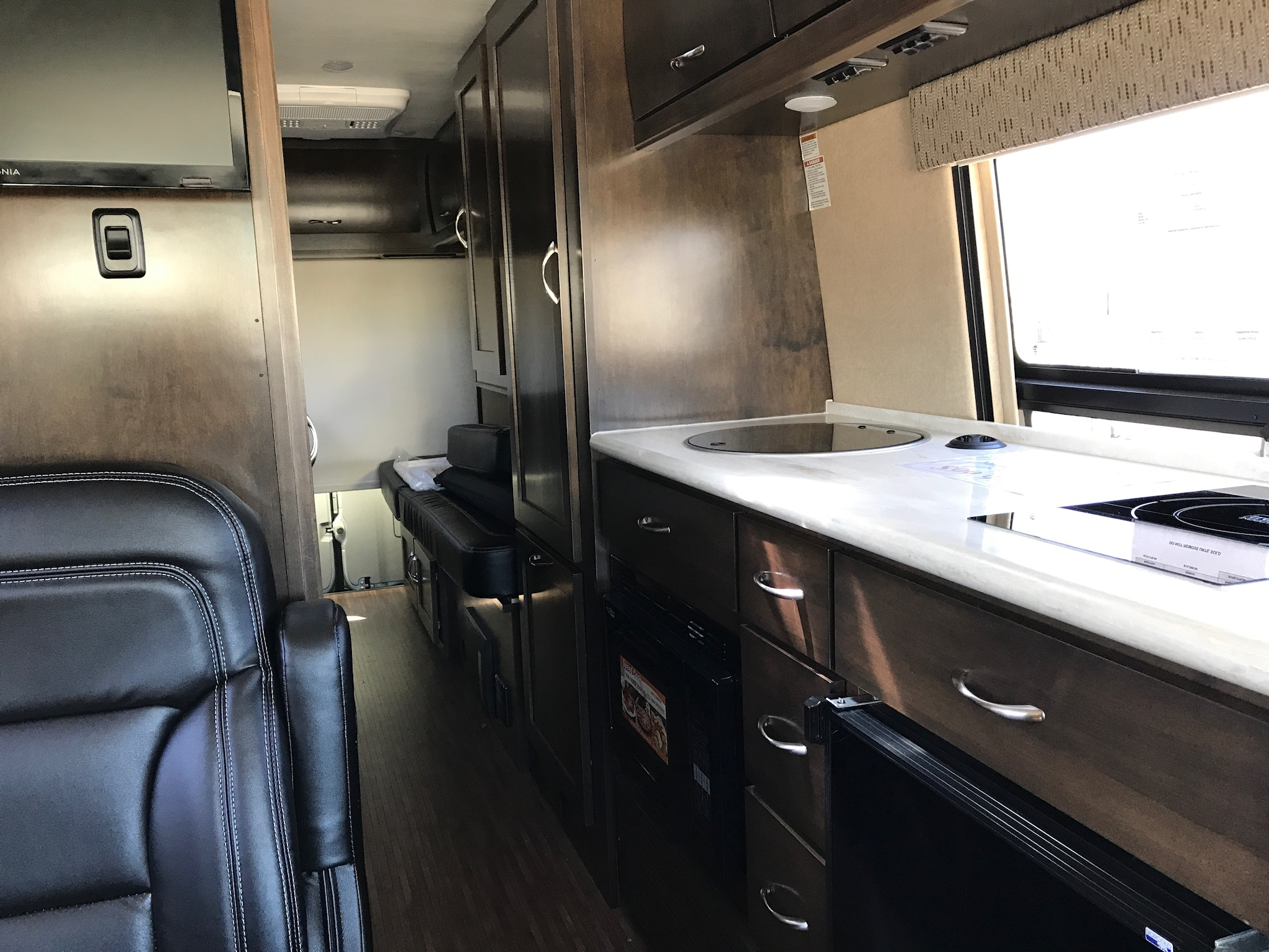 The inside of a Winnebago class B that I looked at yesterday.  Photo taken by and the property of FourWalls.