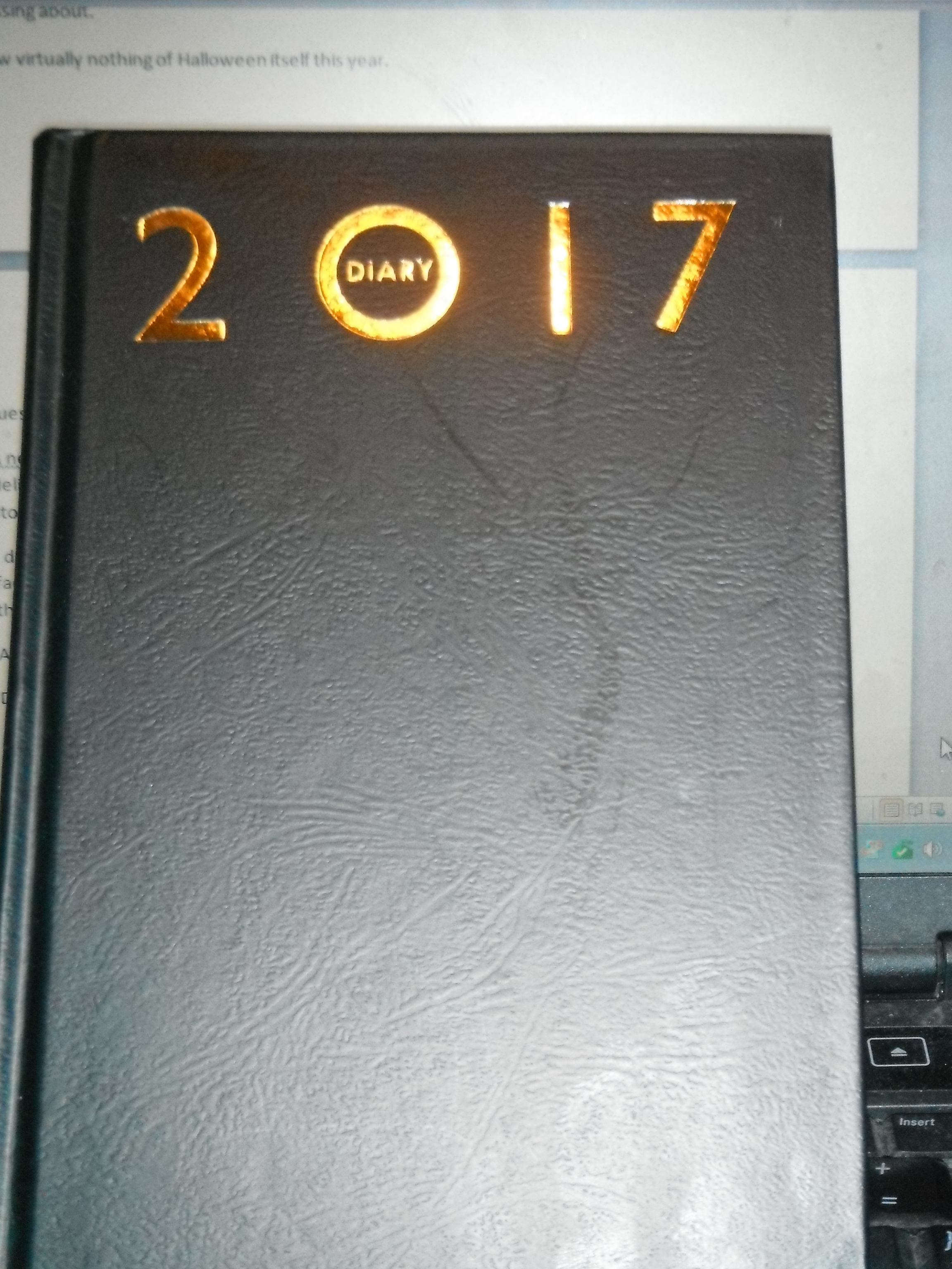 Photo taken by me – my 2017 diary