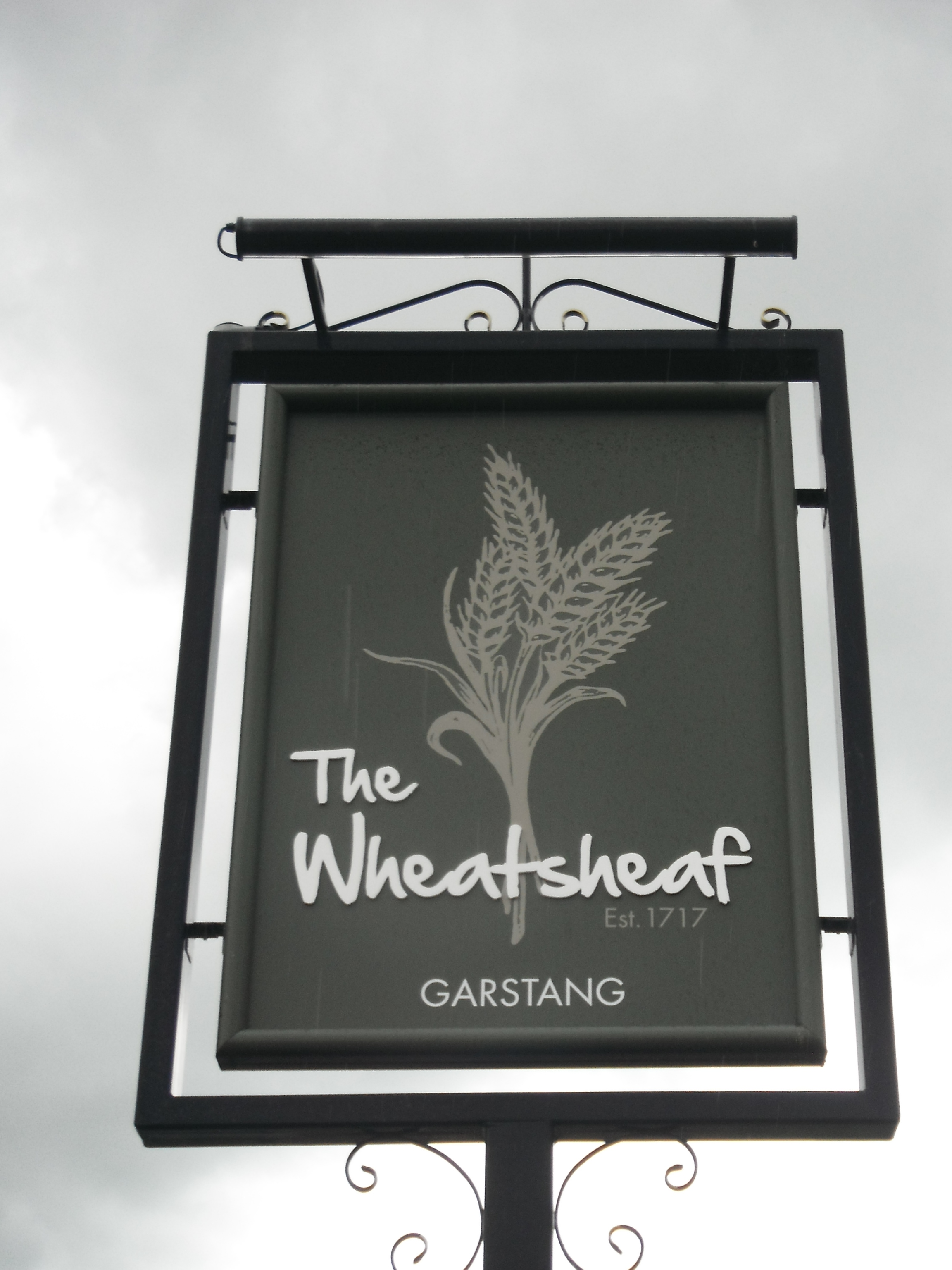Photo taken by me - pub sign for The Wheatsheaf - Garstang