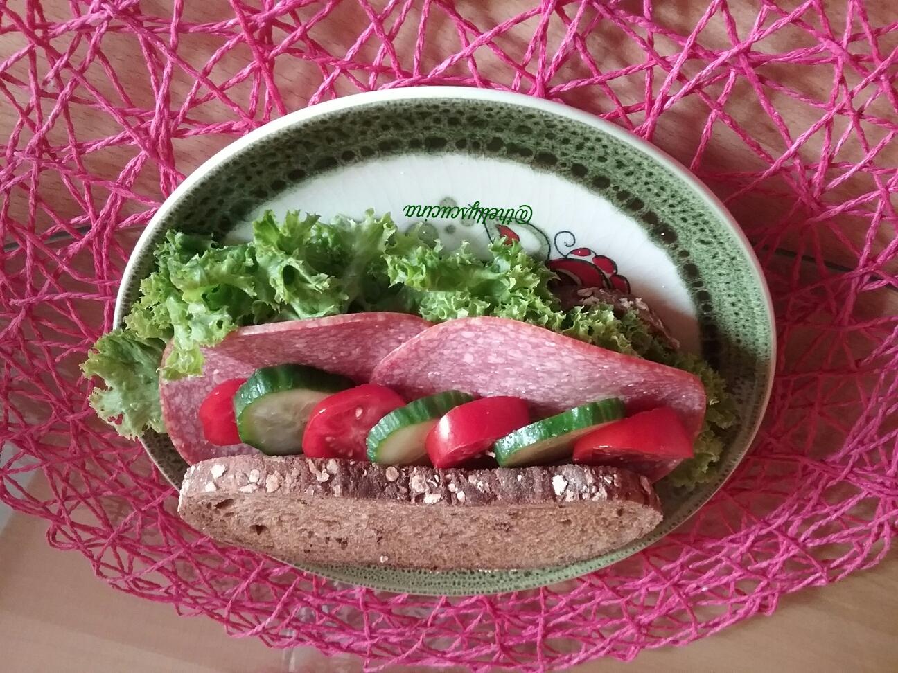 Salami sandwich, hungry, food
