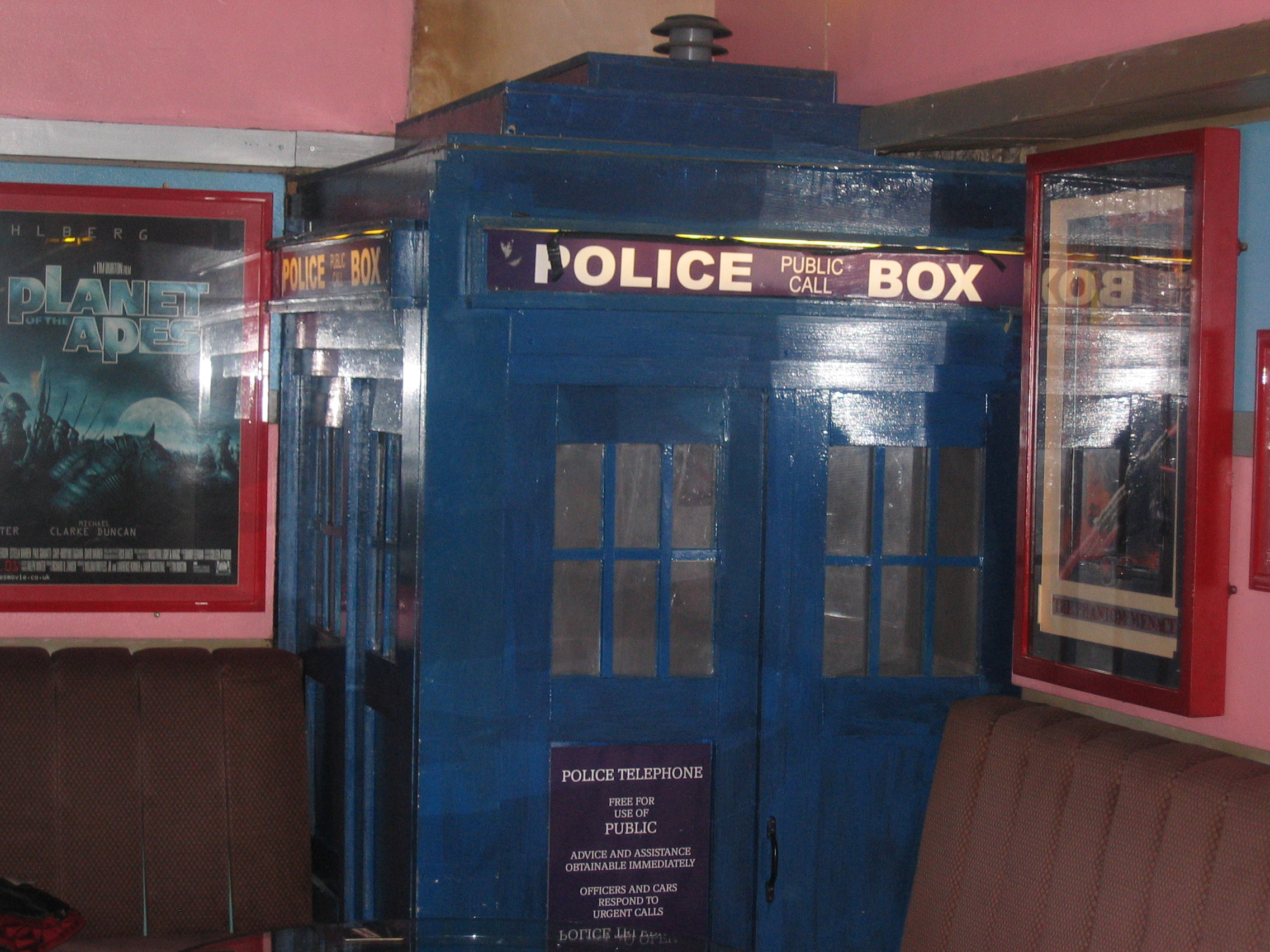 Photo taken by me – The Dr Who TARDIS in Manchester's FAB Café