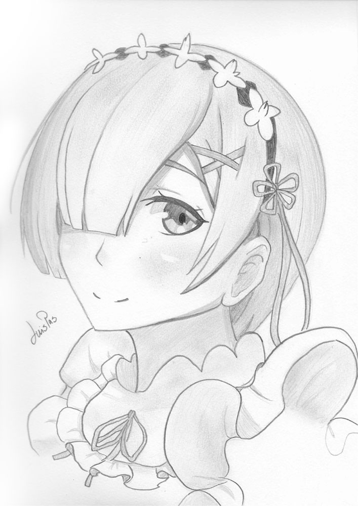 Drawing of Rem made by me