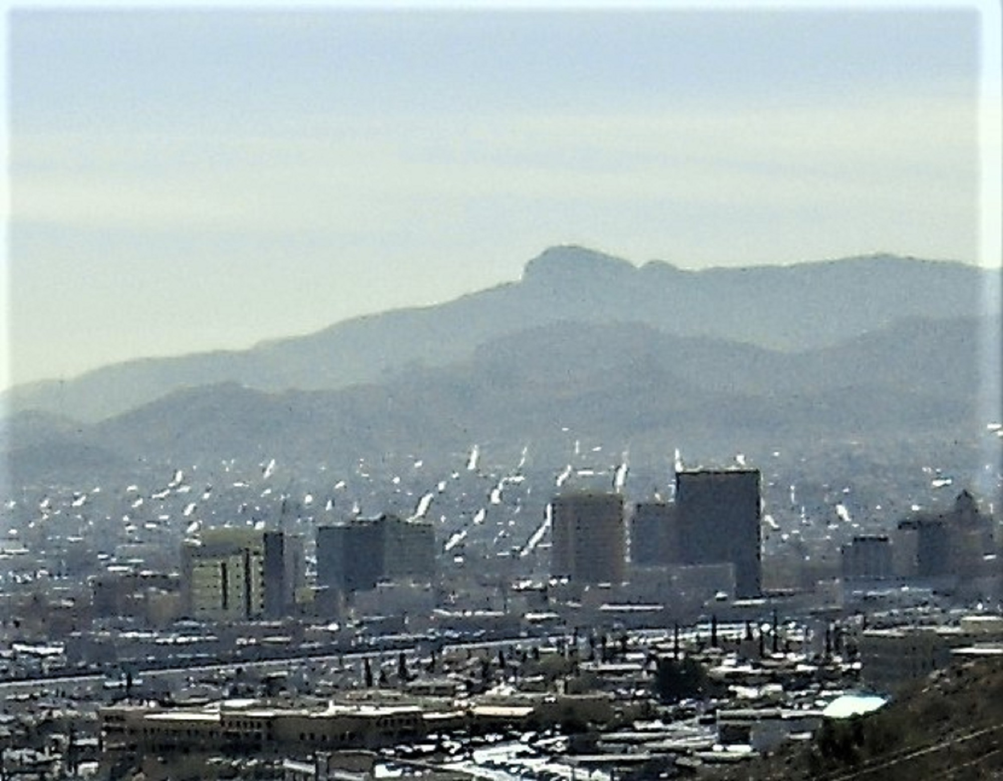 Looking over downtown el paso