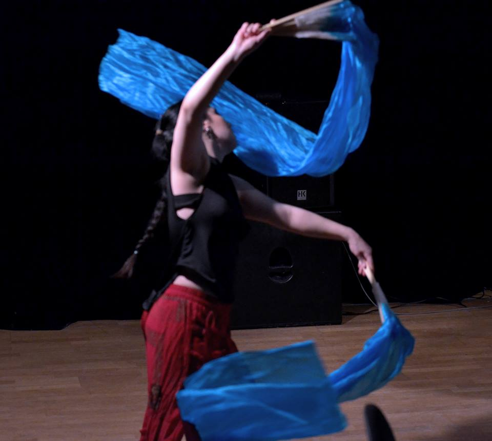 Me dancing with veils