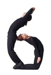 Human six. - This is my favourite no. which is made by human being by twisting and twirling their bodies.