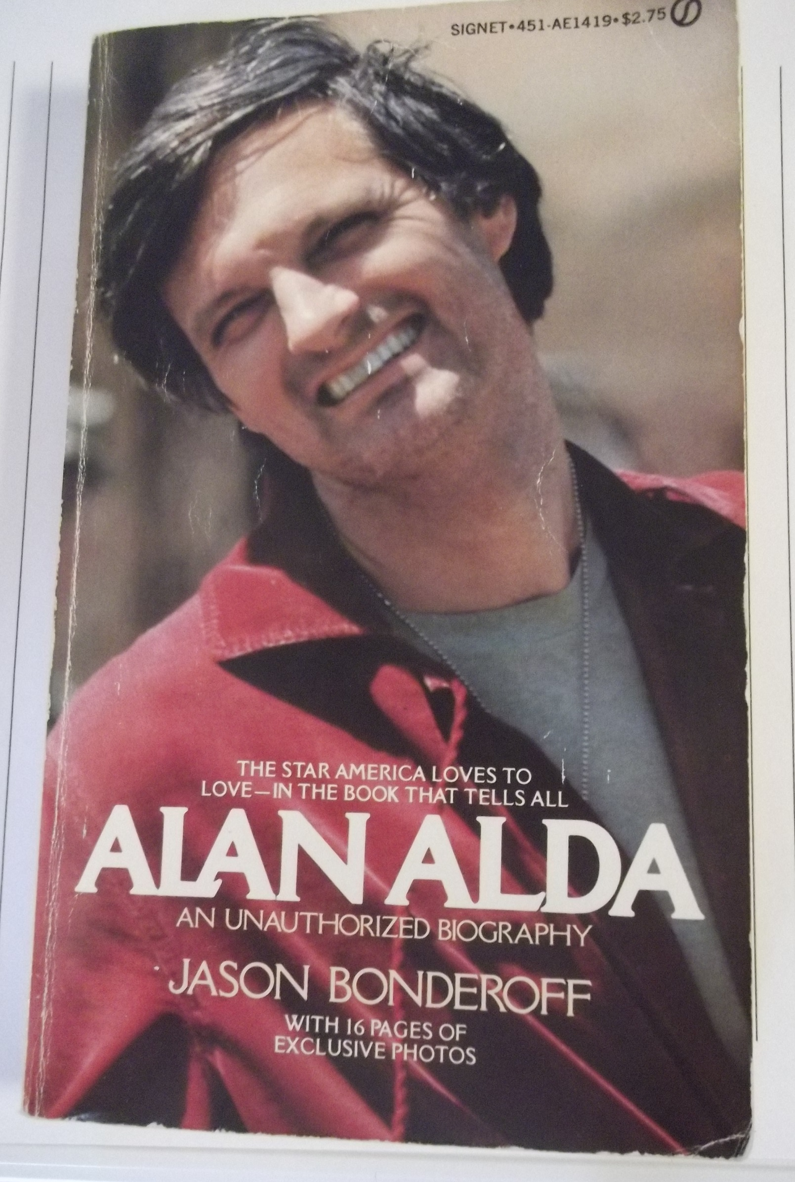 Photo I took of Alan Alda book I was reading earlier
