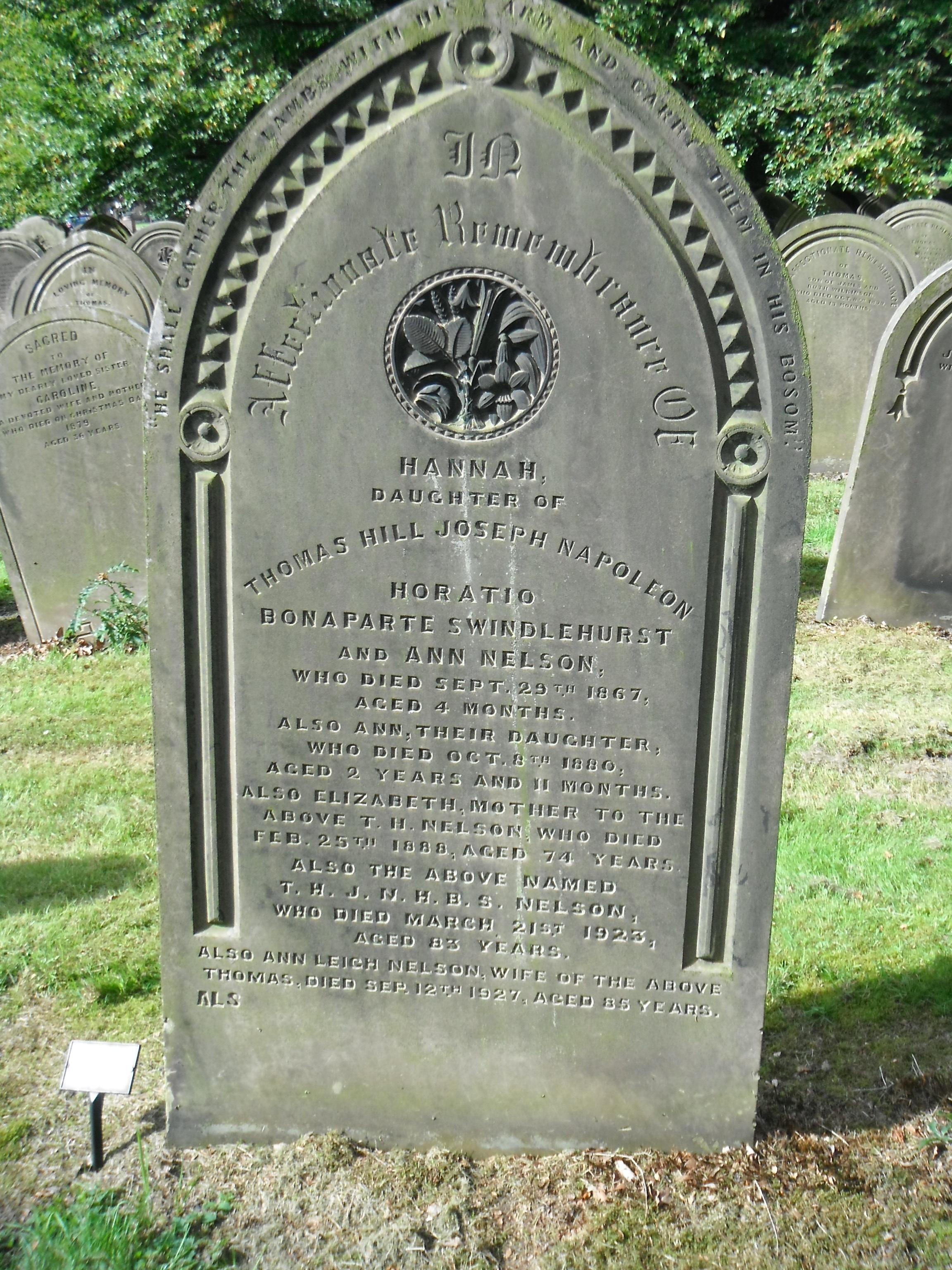 Photo taken by me -  grave marker - Preston, Lancashire