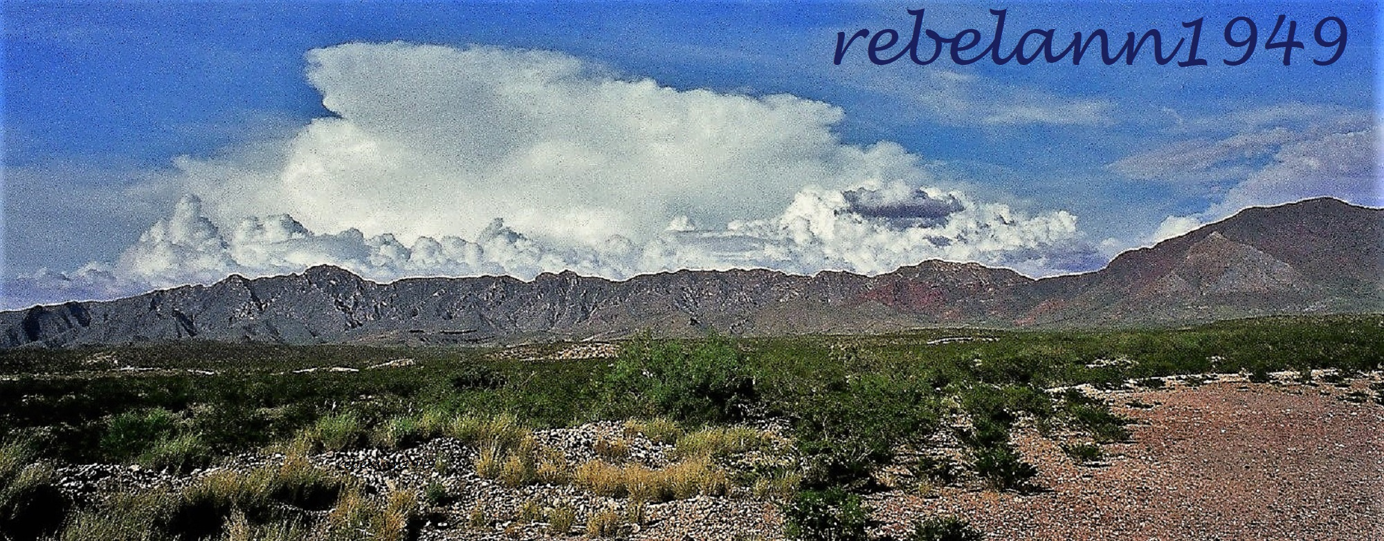 A shot I took of the Franklin Mountains many years ago