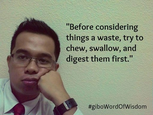 Waste idea - Gibo wisdom