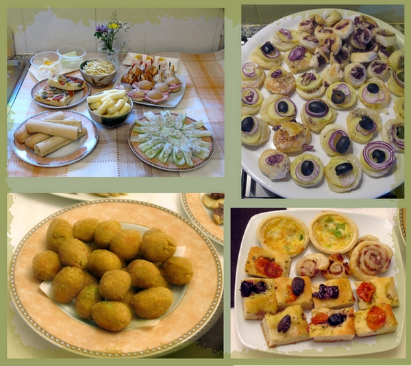 My appetizers ready for the party - By LadyDuck