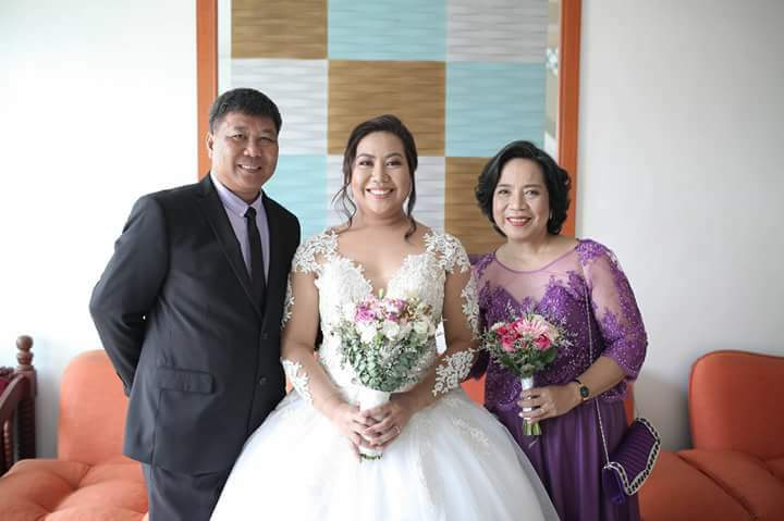 With our dearest daughter No. 2 on her wedding day!