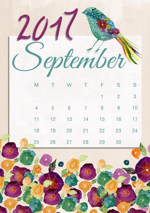 Sep 2017 calendar