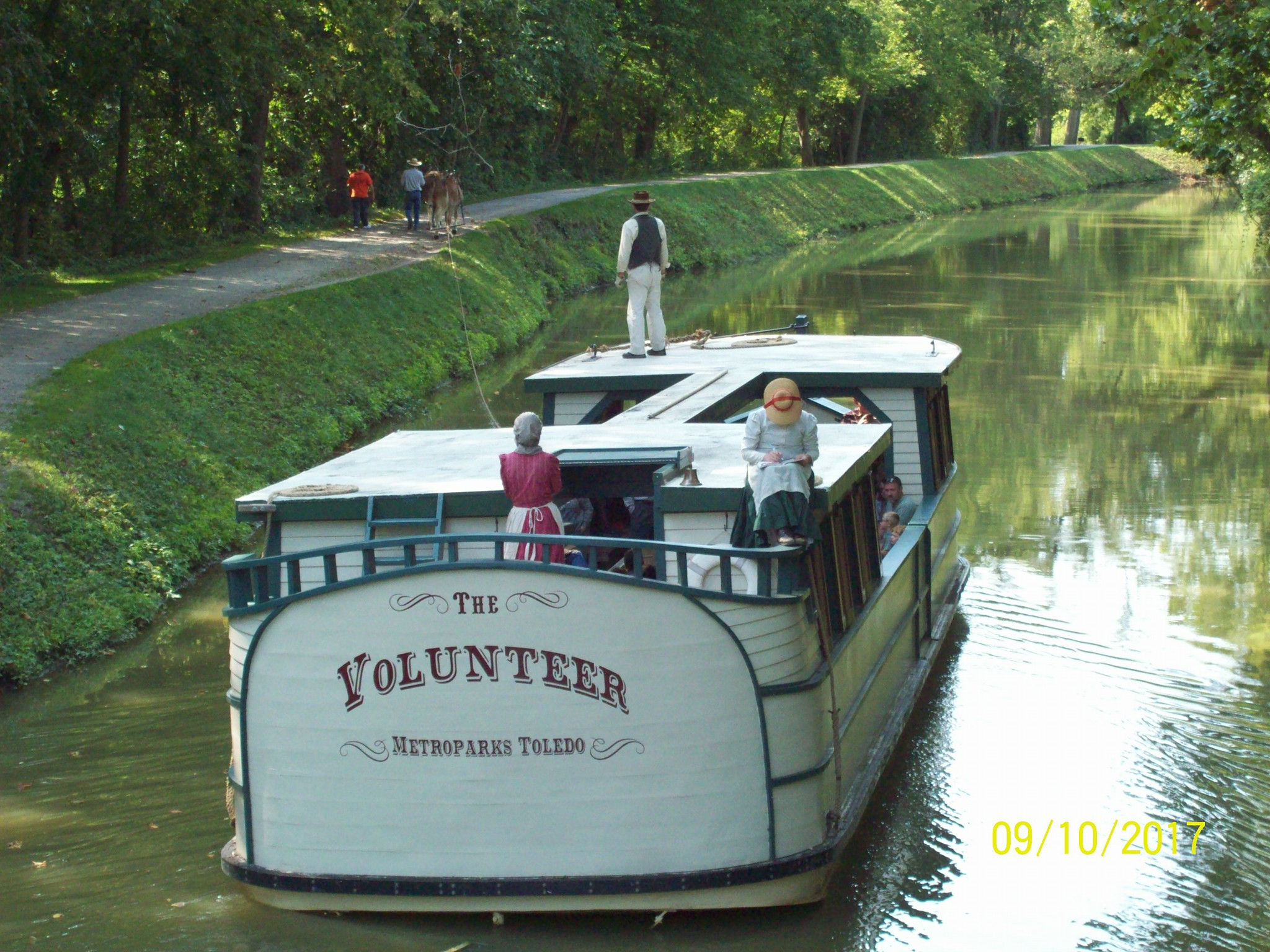 Picture is of the canal boat we rode