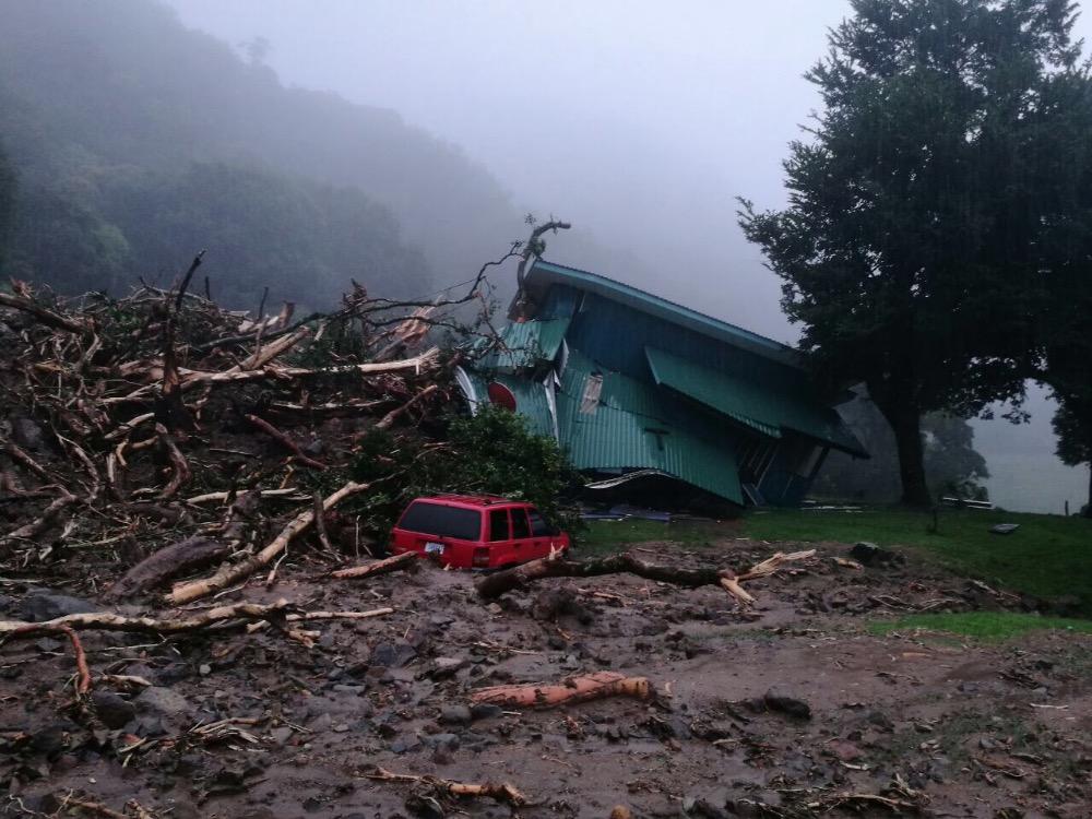 Hurricane damage from GoFundMe for Hincapie Family