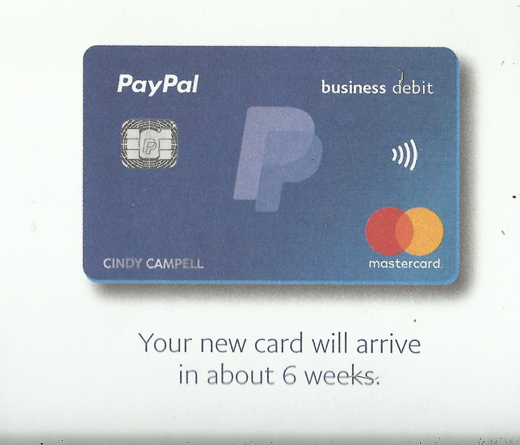 PayPal Business Debit Mastercard / myLot