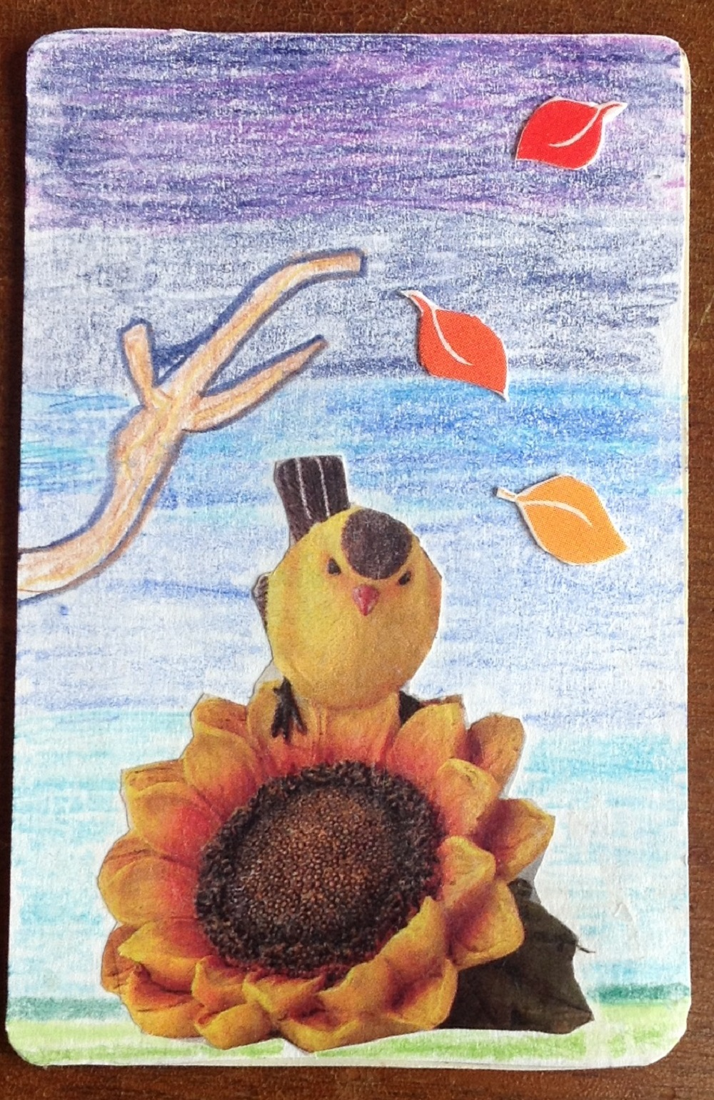 """Artist Trading card made my me entitled """"Memories of Summer"""""""