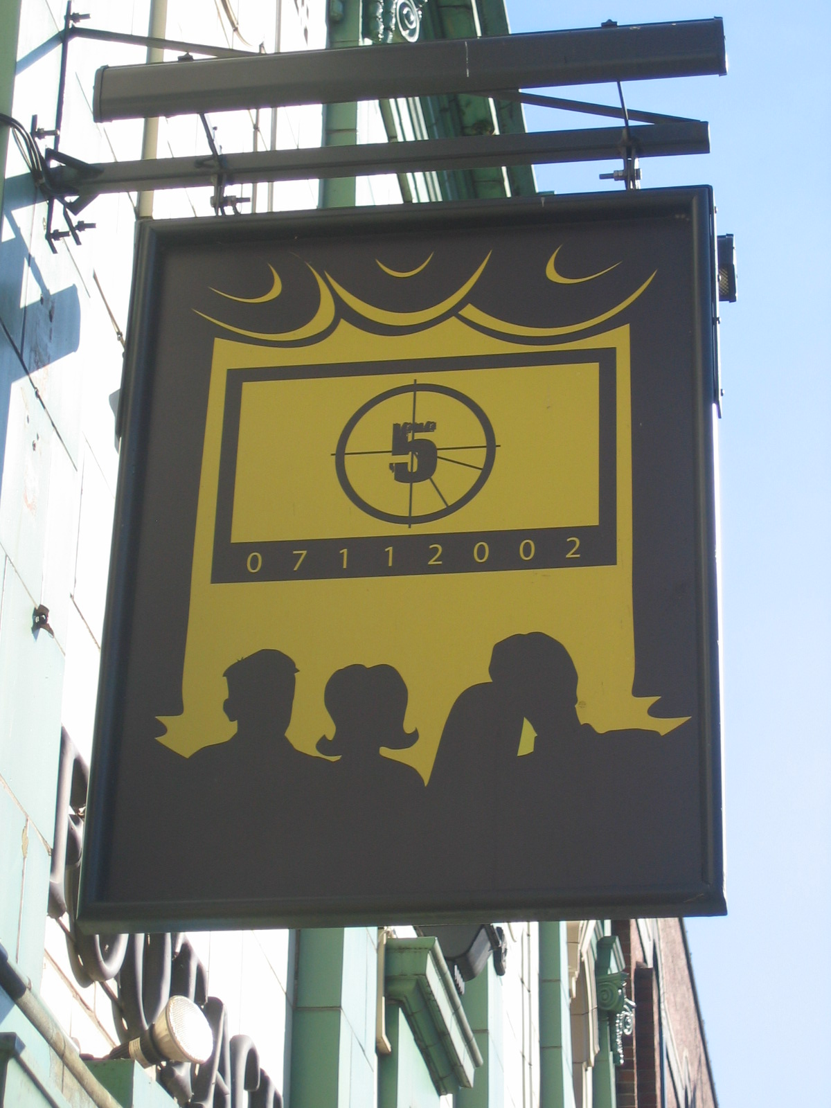 photo taken by me The Footage pub sign Manchester