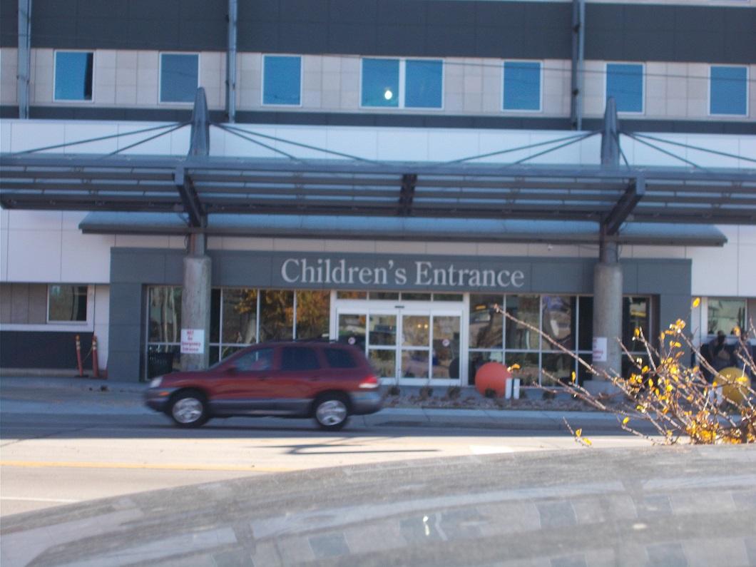 wesley medical center children's entrance on Hillside