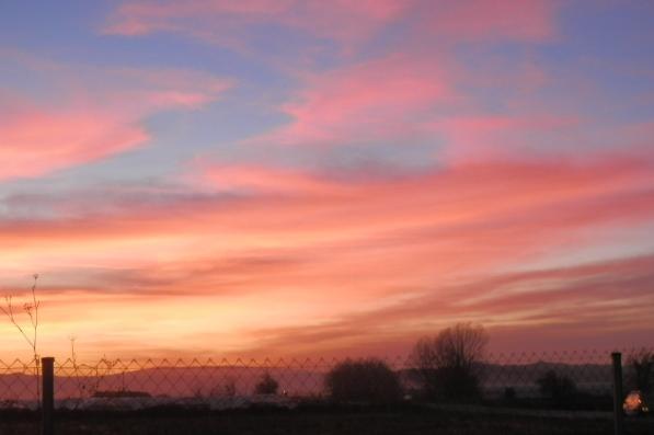 sunset in marcilla navarra spain