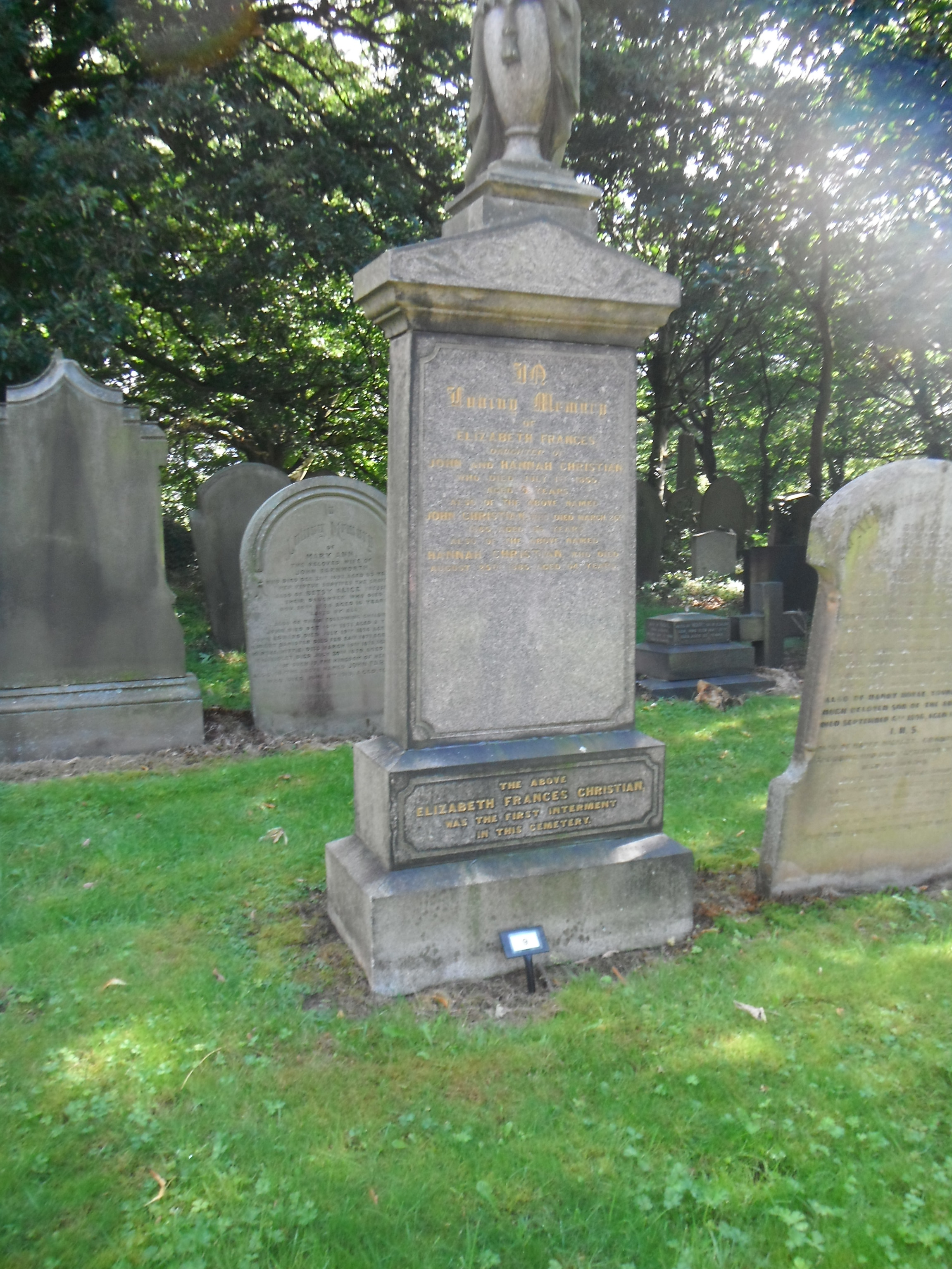 Photo taken by me - the oldest grave in Preston Cemetery