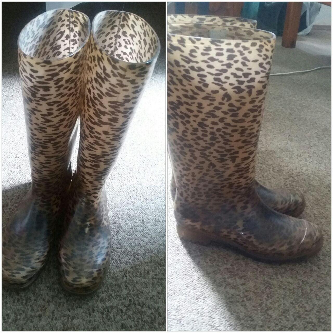 my leopard print wellies
