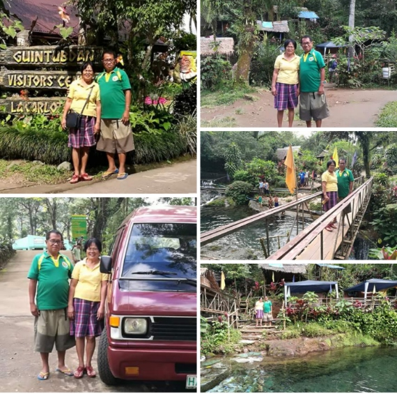 My wife and I at Guintubdab Resort - Gilcamporazo