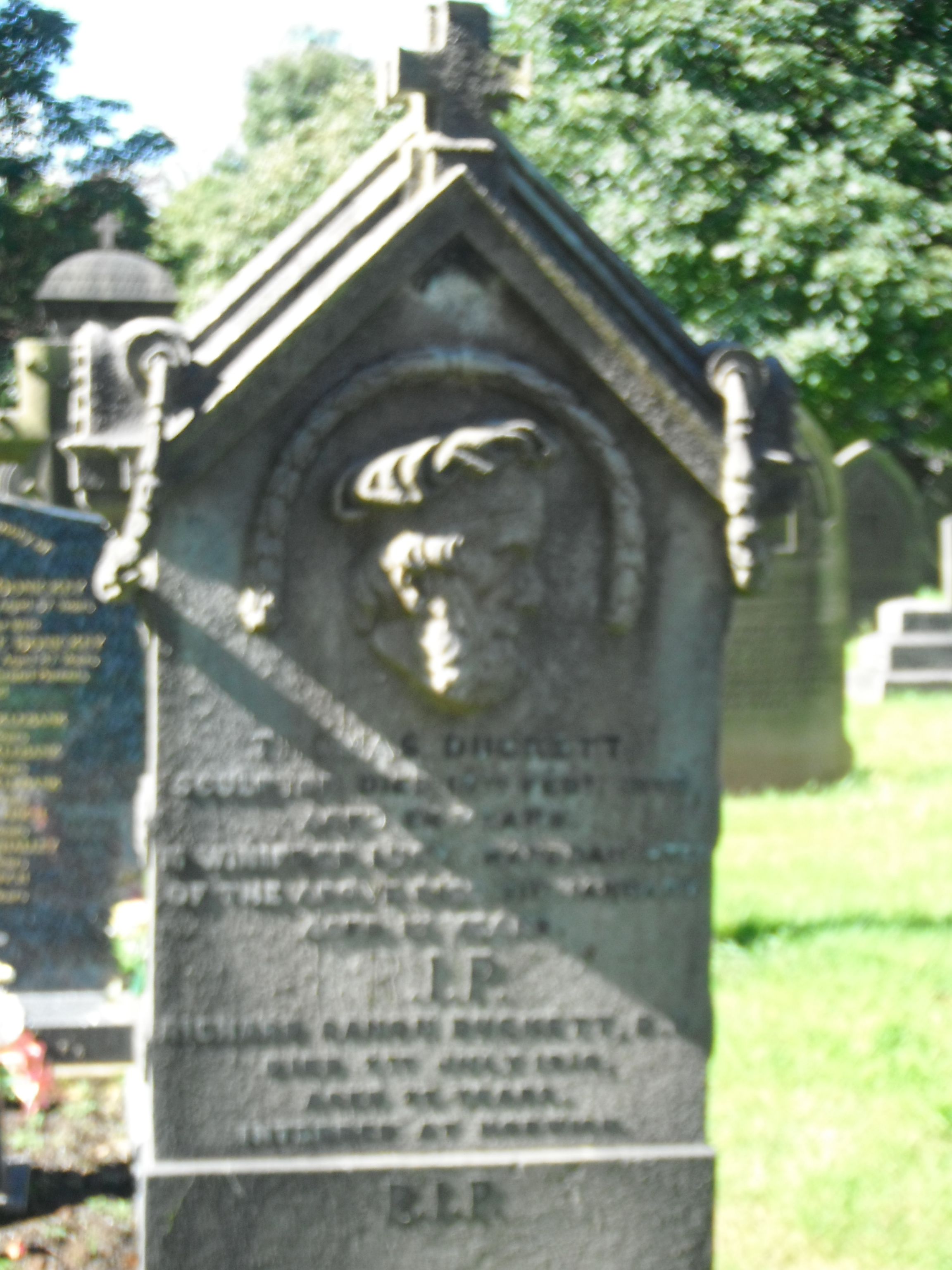 grave marker - Prston Cemetery - Photo taken by me -