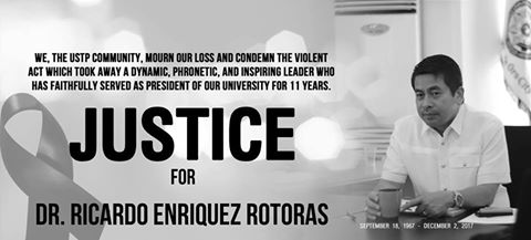 JUSTICE FOR THE KILLING OF OUR BELOVED UNIVERSITY PRESIDENT!