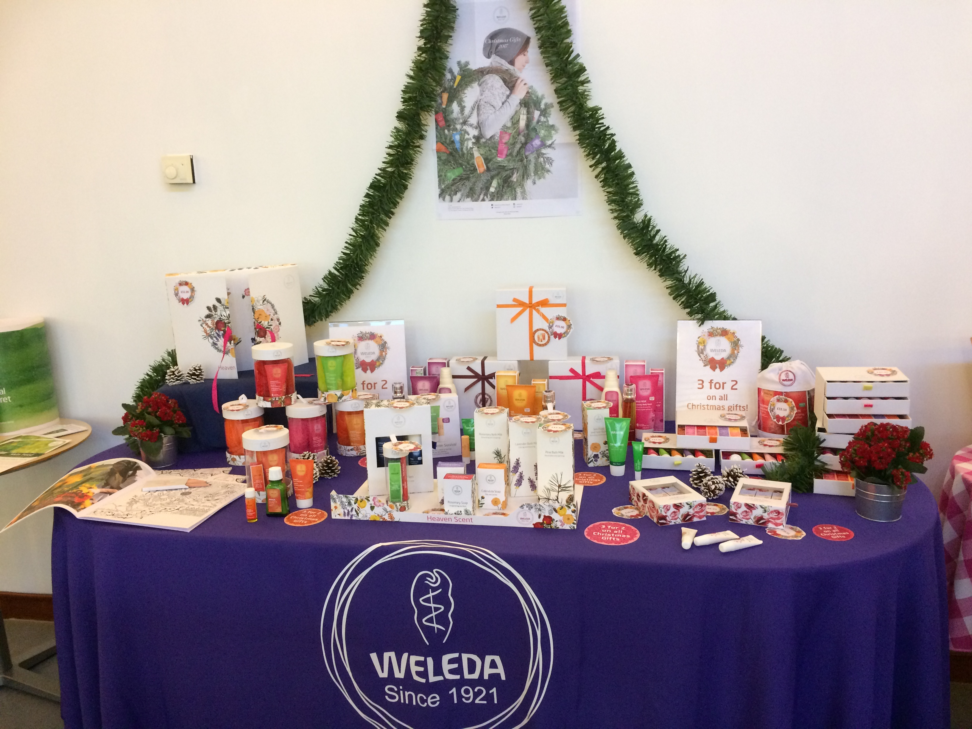 The table of gifts at Weleda