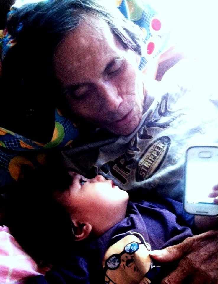 My father with my daughter during his battle against esophageal cancer