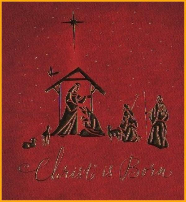 Christ is born - Hallmark IMW 3162A