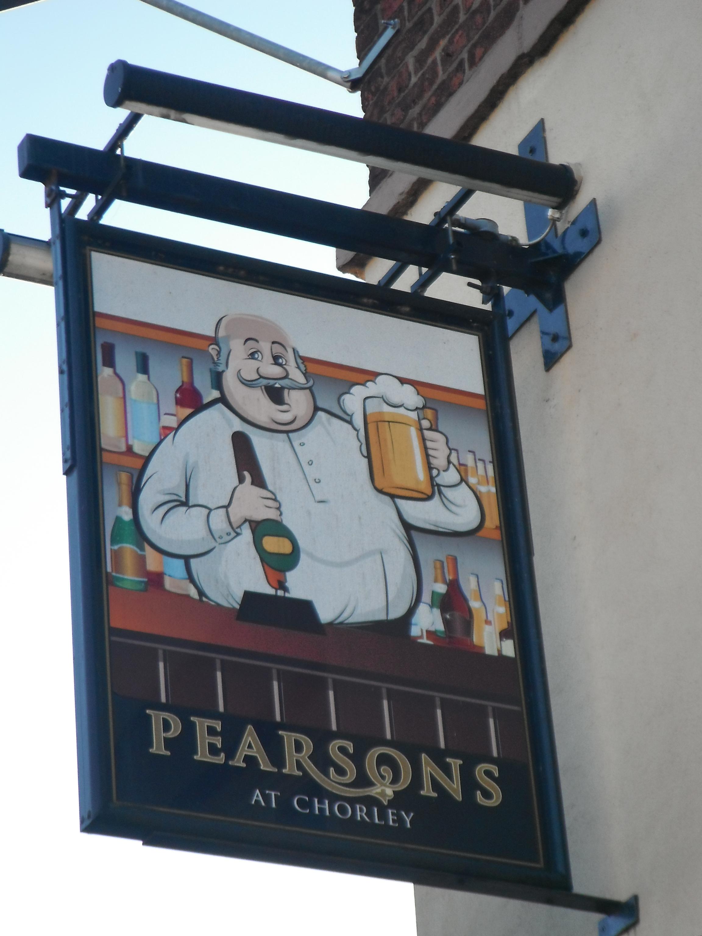 Photo taken by me – Pearsons pub Sign, Chorlton