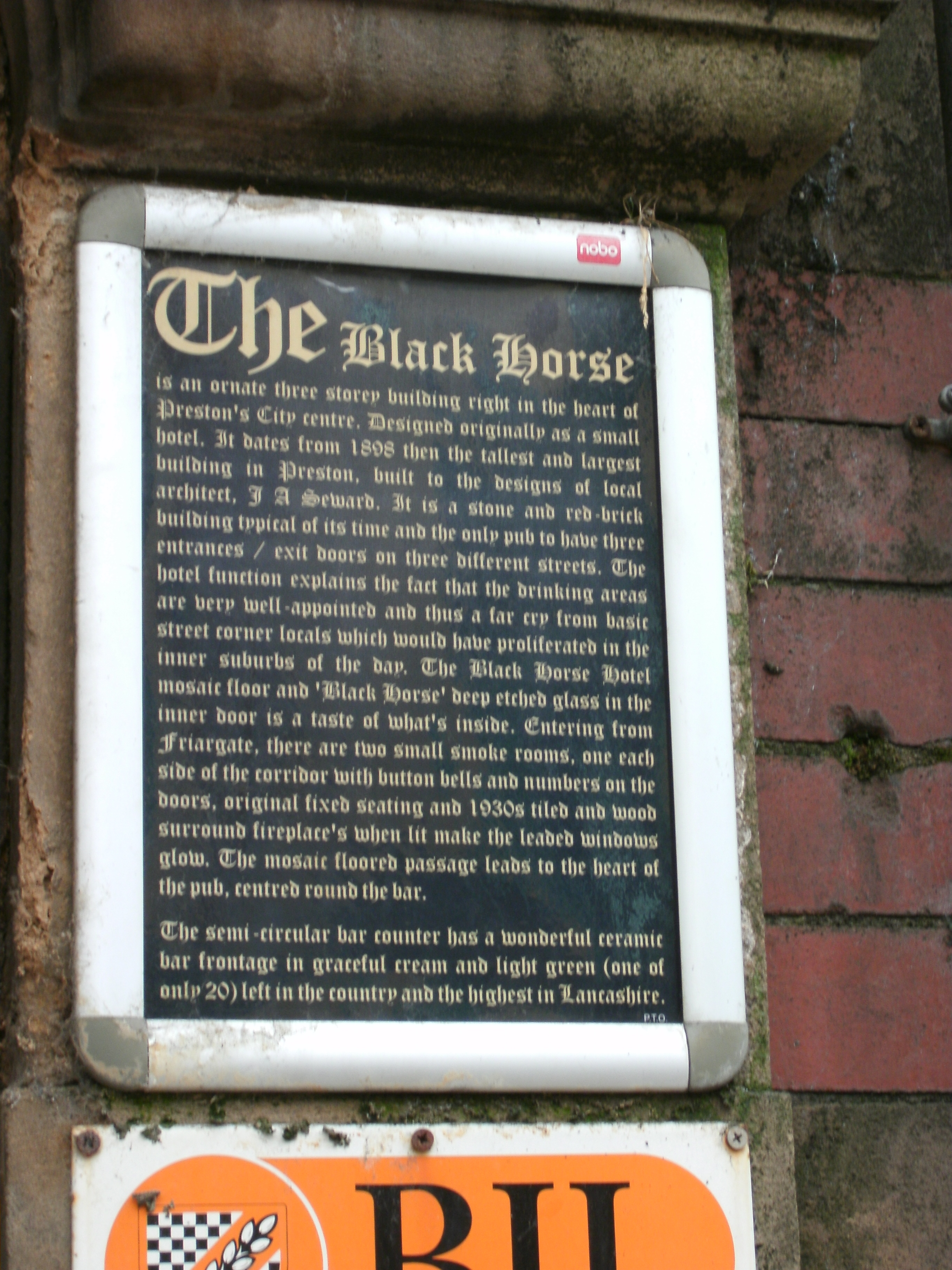 Photo taken by me – The Black Horse pub, Preston